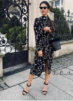 Элегантный костюм zara лица  блуза и юбка  р. м/l