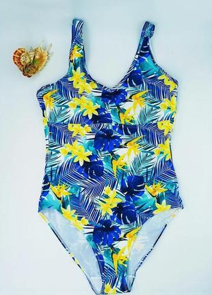 Женский купальник сдельный монокини esmara (eur 44р) синий с желтым (312243)