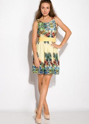 Платье женское 964k030 с тропическим принтом