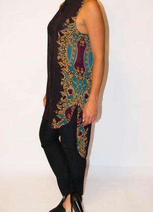 Удлиненная шифоновая блуза от h&m