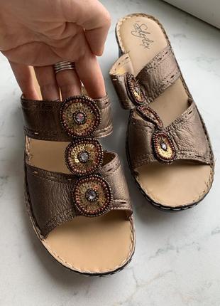 Босоножки шлепанцы сандалии на танкетке soleflex 40 размер