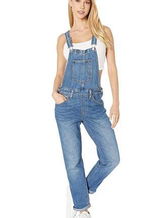 Новый {оригинал} levi's premium джинсовый комбинезон брюки джинсы, xs
