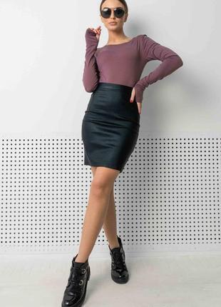 Женский фиолетово-черный костюм с юбкой-карандаш и кофтой (ко 1421 rmmr)
