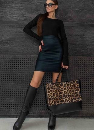 Женский черный костюм с юбкой-карандаш и кофтой (ко 1421 rmmr)