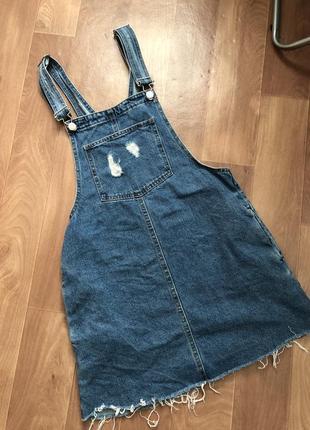 Комбинезон джинсовый pull&bear