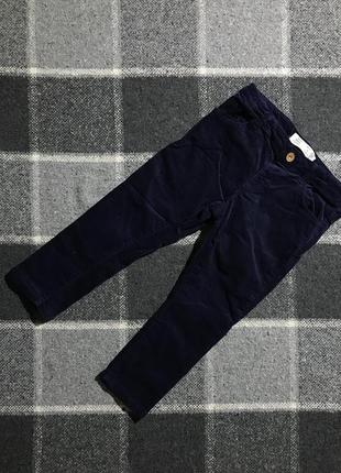 Детские штаны (брюки) zara ( зара 2-3 года 92-98 см идеал оригинал синие)