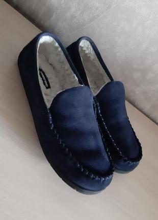 Мужские весенне-зимние туфли замш