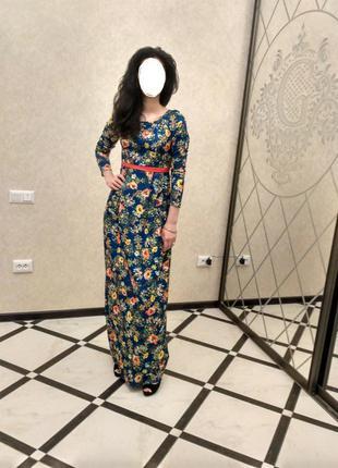 Осенние платье макси длинное в пол