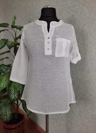 Блуза женская белая. италия.