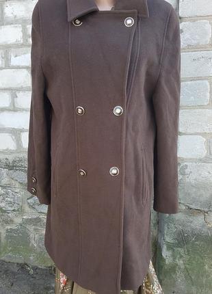 Пальто шерстяное с кашемиром kesta london