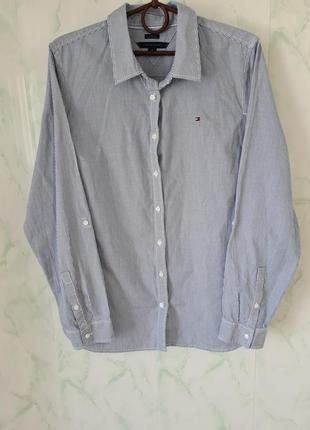 Шикарная хлопковая рубашка в полоску оверсайз от tommy hilfiger