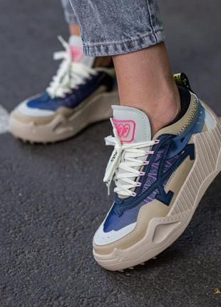 Люксовые женские кроссовки off-white odsy-1000