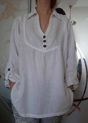 Лен льняная рубашка лен бохо оверсайз