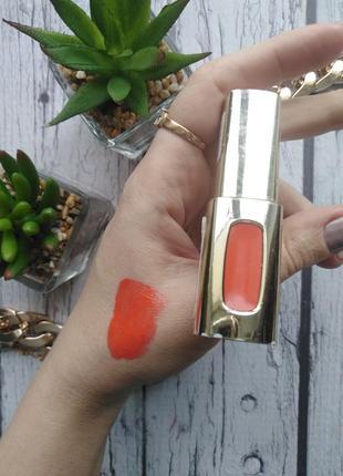 Лаковая помада для губ l'oreal paris color riche extraordinaire тон 204