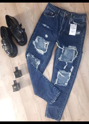 Джинсы джинси mom fit мом
