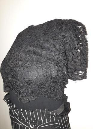 Топ кружевной черного цвета