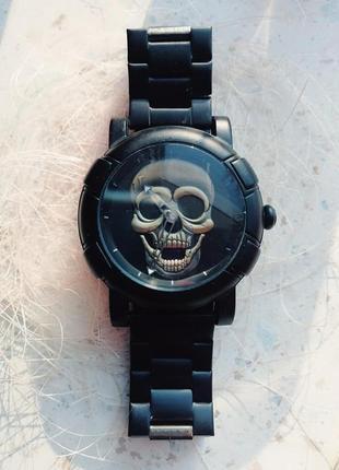 Мужские металлические часы skmei 9178 skull под philipp plein