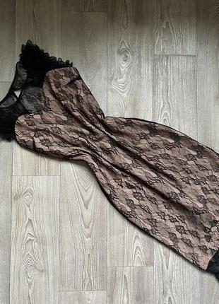 Шикарное элегантное платье с кружевом/ миди платье нарядное/ платье для корпоратива