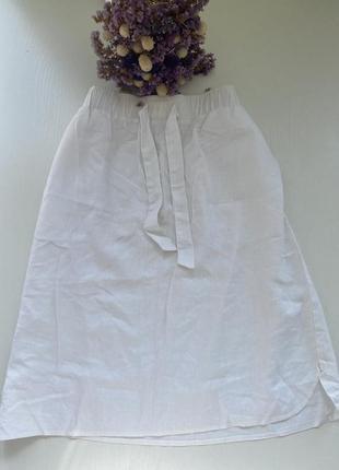 Льняная юбка новая