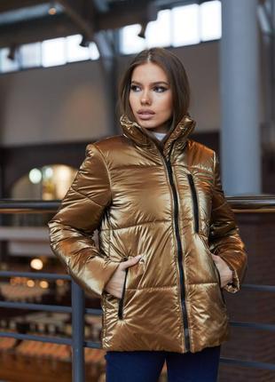 Весенняя куртка красивого бронзового оттенка
