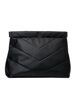 Большой, мега вместительный молодежная женская черная сумка мега шоппер2 фото