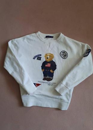 Кофта свитер худи футболка polo bear ralph lauren лампасы vintage