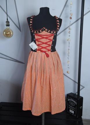 Платье сарафан в этно баварском стиле