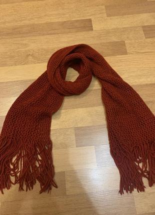Шарф платок хустка красний в стиле zara