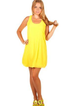 ▣ летнее платье майка (низ баллон)