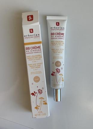 Erborian eau ginseng spf20 bb cream clair вв крем для лица с женьшенем, светлый