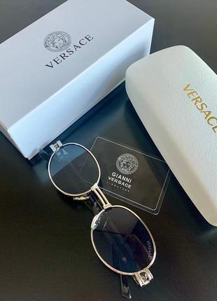 Роскошные брендовые овальные очки в полной комплектации