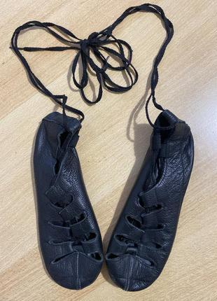 Кожаные чешки для танцев (18 см)1 фото
