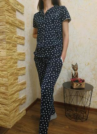 Женская пижама с милыми сердечками