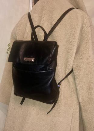 Кожаный  сумка рюкзак винтаж