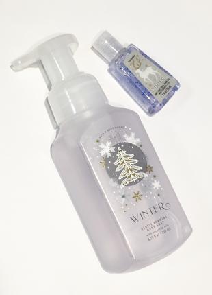 Набор мыло-пенка и санитайзер для рук bath and body works winter