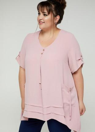 Блуза нарядная свободного силуэта
