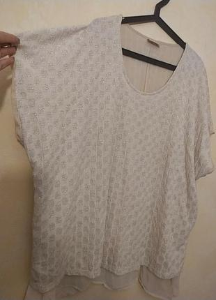 Батал большой размер шикарная нарядная светлая стильная блуза блузка блузочка кофточка