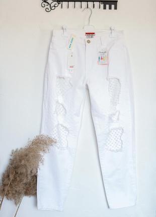 Castro крутые белые джинсы momdjeans. тренд 2021!!!