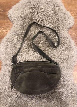 Женская замшевая сумка care label