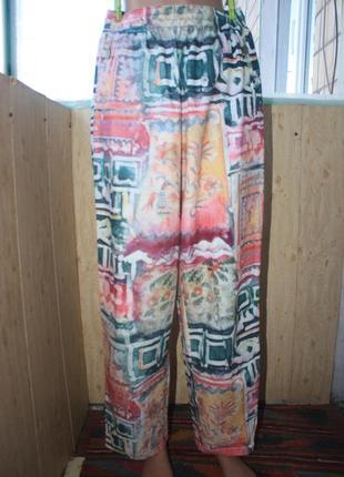 Оригинальные винтажные штаны на резинке