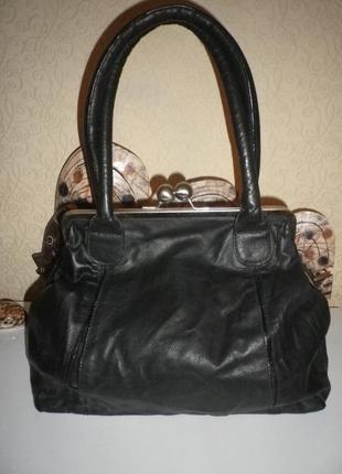 Большая мягкая сумка-ридикюль кожа