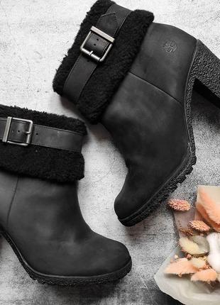 Демисезонные ботинки timberland на каблуке каблуках