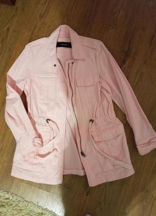 Женский пиджак светло розовый