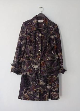 Костюм двойка. юбка и пиджак. размер 46-48.