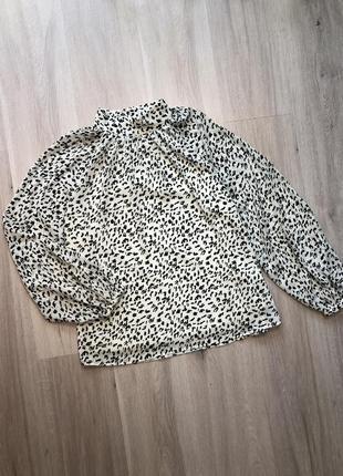 Сорочка блуза топ оверсайз в анімалістичний принт об'ємна / рубашка анималистика винтаж