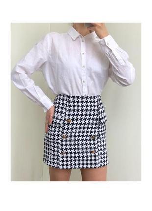 Трендовая юбка в гусиную лапку missguided
