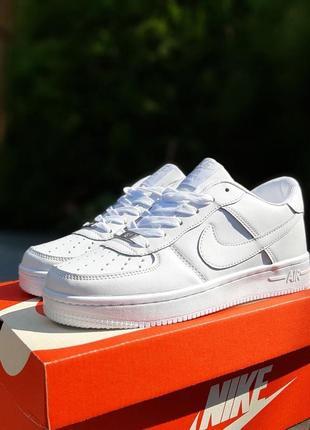 Nike air force 1  белые5 фото
