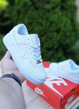 Nike air force 1  белые8 фото