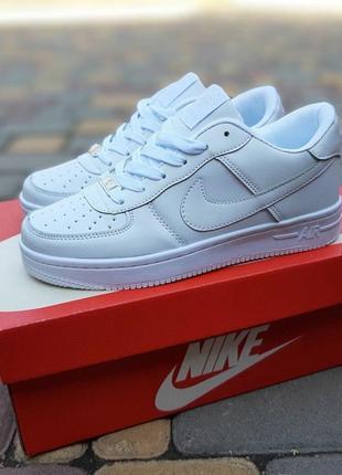 Nike air force 1  белые6 фото