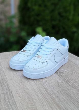 Nike air force 1  белые7 фото